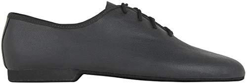 Rumpf Schuhe Jazz Basic I 1260Tanzschuhe aus Leder, Jazz Swing Ballett Lindy Hop SG Sport Fitness Yoga Pro, Schwarz - Schwarz - Größe: EU 39,5