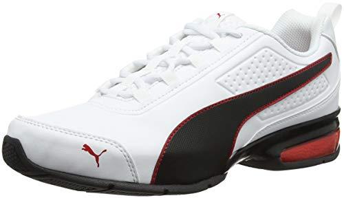 PUMA Unisex-Erwachsene Leader VT SL Sneaker, Weiß White Black-Flame Scarlet, 44 EU