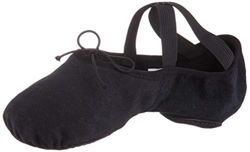 Bloch Unisex^Unisex Dance Zenith Stretch Canvas Slipper, Damen, Ballettschuh, gespaltene Sohle, schwarz, 36 EU