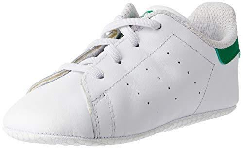 adidas Originals Stan Smith Crib B24101, Unisex Baby Lauflernschuhe Sneaker, Weiß (Ftwr White/Ftwr White/Green), EU 19