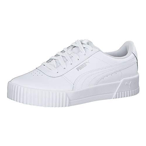 Puma Damen Carina L Niedrig, Weiß White White Silver, 38 EU