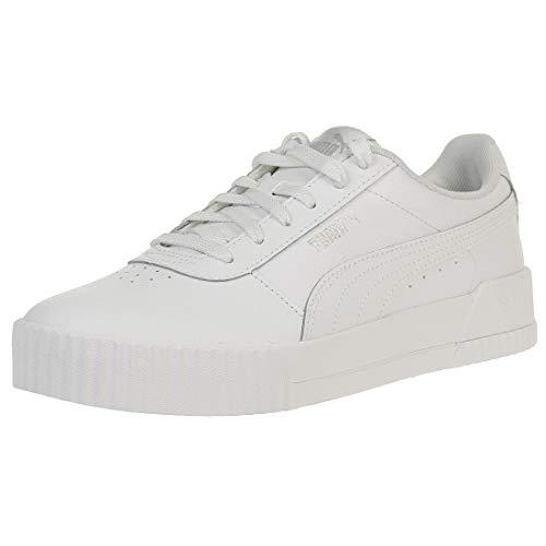 PUMA Damen Carina L Niedrig, Weiß White White Silver, 40 EU