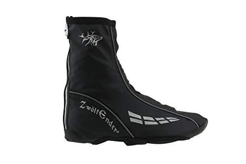Zwölfender Pawnee Regen-Überschuhe schwarz Winddicht und wasserabweisend, Größe:XL