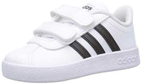 Adidas VL Court 2.0CMF I–Tennisschuh, Kinder, Weiß (Ftwbla/negbas/Ftwbla), 20