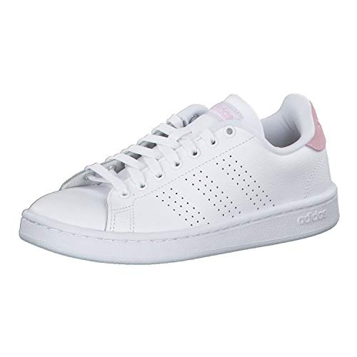 Adidas Advantage, Damen Hallenschuhe, Weiß (Ftwbla/Ftwbla/Grasua 000), 37 1/3 EU (4.5 UK)