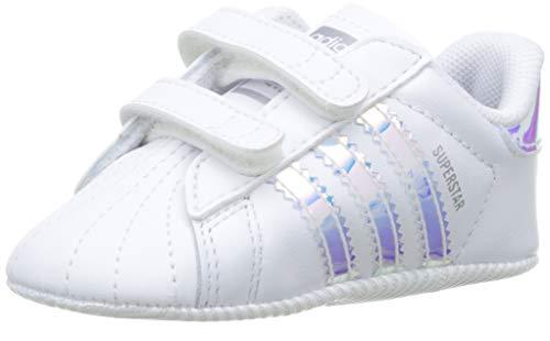 adidas Unisex Baby Superstar Crib Gymnastikschuhe, Weiß (FTWR White/FTWR White/Core Black FTWR White/FTWR White/Core Black), 18 EU