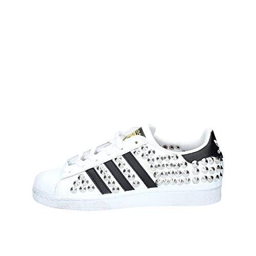 adidas Unisex-Kinder Superstar Low-Top,Weiß (Ftwr White/Core Black/Ftwr White),36 2/3