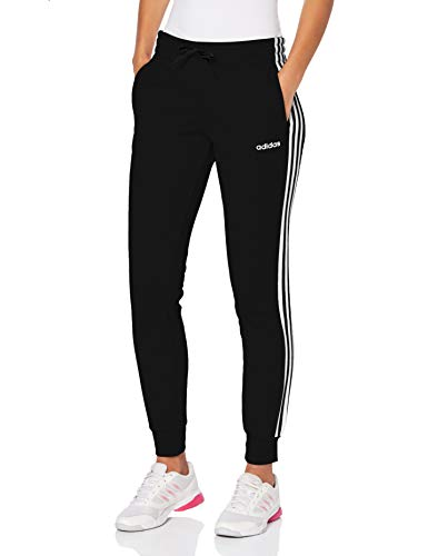 adidas Damen W E 3S Pant Sport Trousers, Black/White, L