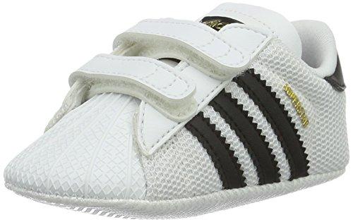 adidas Unisex Baby Superstar Crib Hausschuhe, Weiß (Ftwbla/Negbas 000), 20 EU