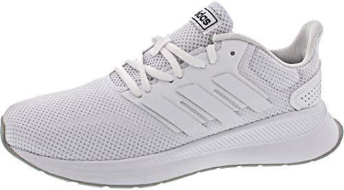 adidas Unisex-Kinder RUNFALCON K Laufschuhe Weiß Footwear (White/Grey 0), 38 EU
