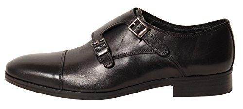 Antica Calzoleria Campana Schuh | Mod. 9509 | Kalbsleder | Monkstrap | schwarz | Größe 42