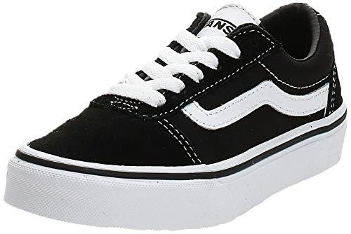 Vans Unisex-Kinder Ward Suede/Canvas Sneaker, Schwarz ((Suede/Canvas) Black/White Iju), 33 EU