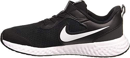 Nike Unisex Kinder Revolution 5 (PSV) Running Shoe, Black/White-Anthracite, 35 EU