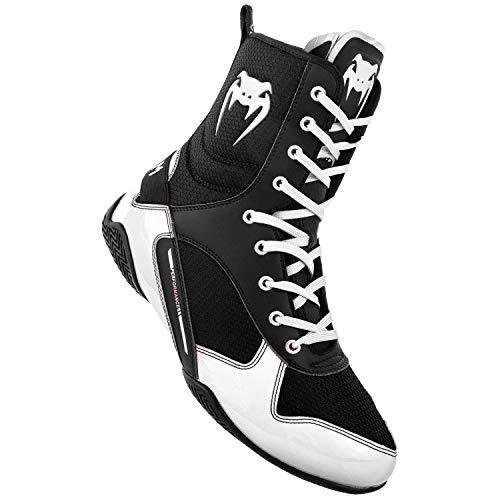 Venum Unisex-Erwachsene Elite Boxschuhe, (Schwarz/Weiß 108), 42 EU