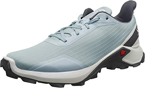 Salomon Herren Trail Running Schuhe, ALPHACROSS, Farbe: grau (Lead/White/India Ink) Größe: EU 49 1/3