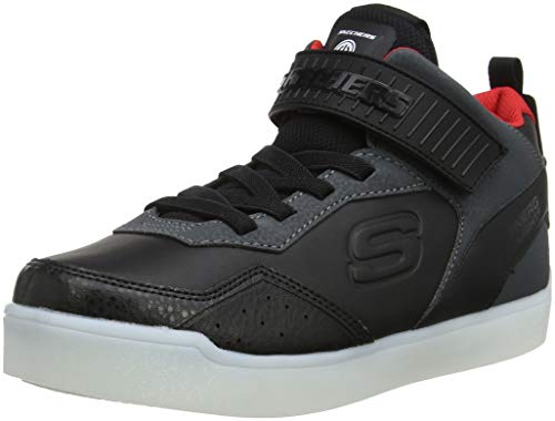 Skechers Unisex-Kinder Energy Lights Hohe Sneaker, Schwarz (Black 90613L-BKRD), 34 EU