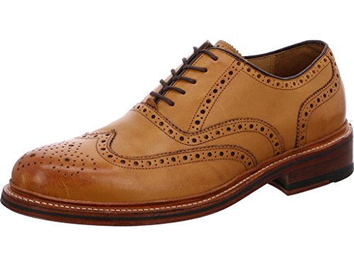 Gordon & Bros Levet 2506, rahmengenähte Herren Businessschuhe und Schnürhalbschuhe (Brogue, Leder, Ledersohle) Braun (Tan), EU 43