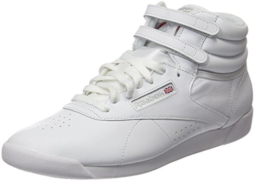 Reebok Damen Freestyle Hi High-Top, Weiß (Int-White/Silver), 38.5 EU