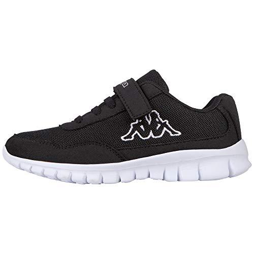 Kappa Unisex-Kinder Follow Sneaker, Schwarz, 30 EU