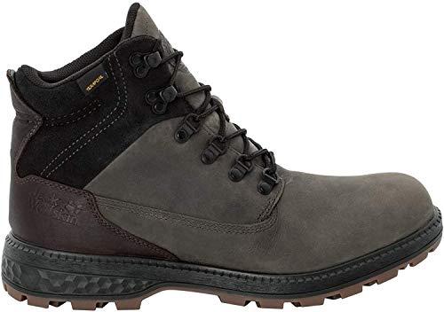 Jack Wolfskin JACK TEXAPORE MID M Wasserdicht Combat Boots Herren, Grau Dark Steel Black 6059, 46 EU