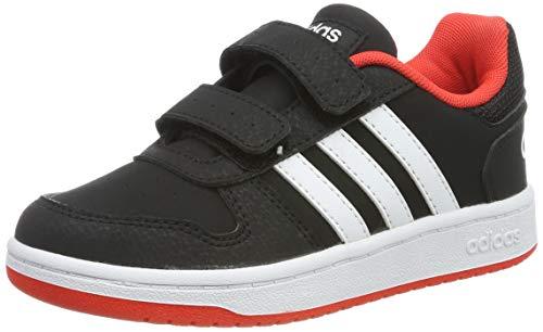 adidas Unisex-Kinder Hoops 2.0 CMF C Fitnessschuhe, Schwarz (Negro 000), 33 EU