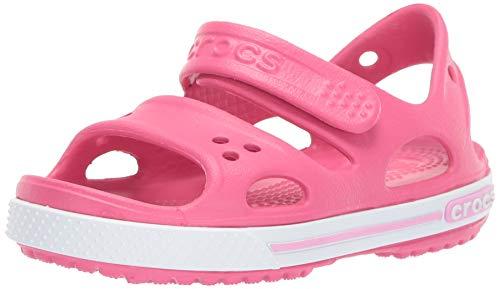 Crocs Crocband Ii Sandal Ps K, Unisex-Kinder Sandalen, Pink (Paradise Pink/carnation), 25-26 EU (9 UK)