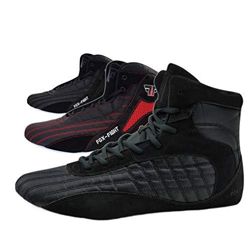 FOX-FIGHT Kampfsport Schuhe/Wildleder 45 - schwarz