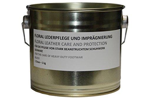Original Bundeswehr Schuhcreme Farbe: schwarz 1 kg im Blecheimer Lederpflege Bw Inhalt pro Dose 1,135 Liter Marke: Floral