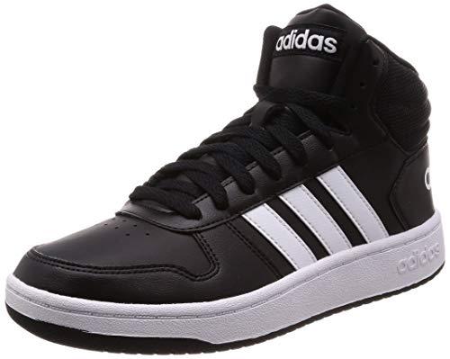 adidas Herren Hoops 2.0 Mid Fitnessschuhe, Schwarz (Negbás/Ftwbla/Negbás 000), 45 1/3 EU