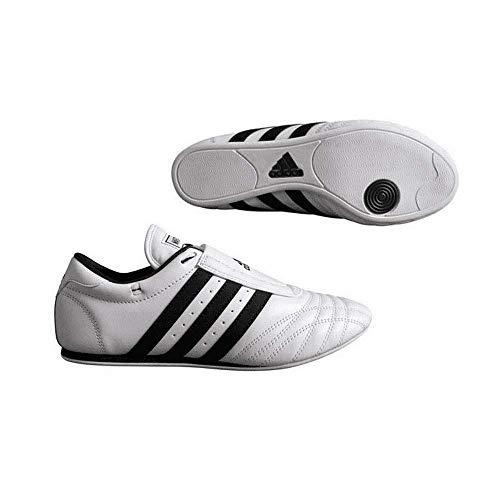 adidas SM II Low Cut Martial Arts Taekwondo, Karate und Kungfu Schuhe, Herren, ADIDSCH110, Weiß mit schwarzen Streifen, 11