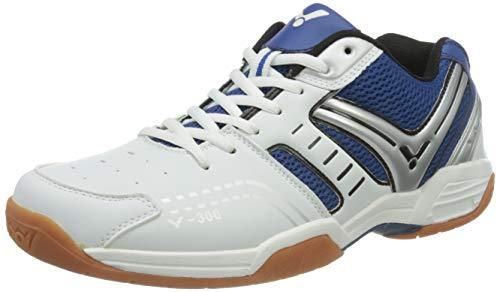 VICTOR V-300 Indoor Sportschuh / Badmintonschuh / Hallenschuh, Blau/Weiß, Größe 42