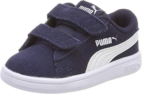 Puma Unisex-Kinder Smash v2 SD V Inf Sneaker, Blau (Peacoat White), 26 EU