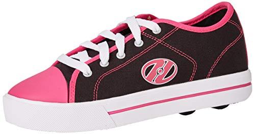 Heelys Mädchen Classic Sneaker, Schwarz (Black/White/Hot Pink Black/White/Hot Pink), 34 EU