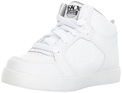 Skechers Jungen Energy Lights Elate Sneaker, Weiß (White), 38 EU