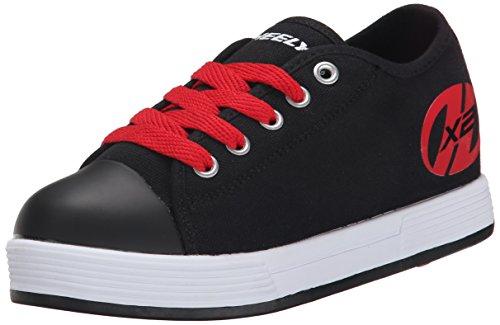 Heelys Jungen X2 Fresh Turnschuhe, Schwarz (Black/Red), 38 EU