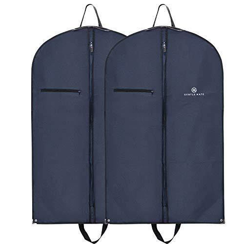 Gentle Mate® 2er Set Premium Kleidersäcke mit Schultergurt inklusive Duftbeutel – hochwertige Anzugtasche Kleidertasche Business für Reisen und Aufbewahrung von Anzügen, Hemden Anzugsack Herren