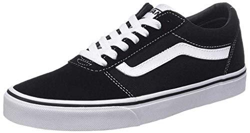 Vans Herren Ward Canvas Sneaker, Schwarz ((Suede Black/White C4R), 44 EU