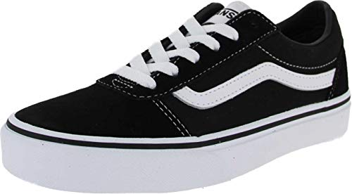 Vans Unisex-Kinder Ward Suede/Canvas Sneaker, Schwarz ((Suede/Canvas) Black/White Iju), 35 EU