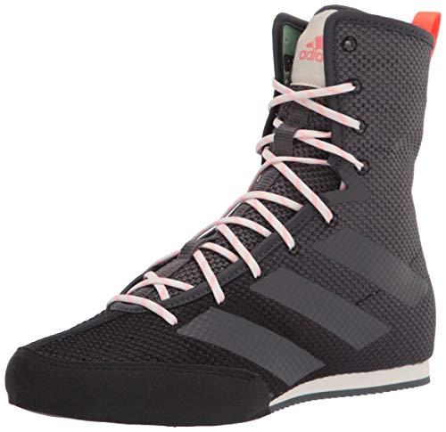 adidas Hog 3 Boxschuh, (Schwarz/Grau/Solarrot), 44 EU