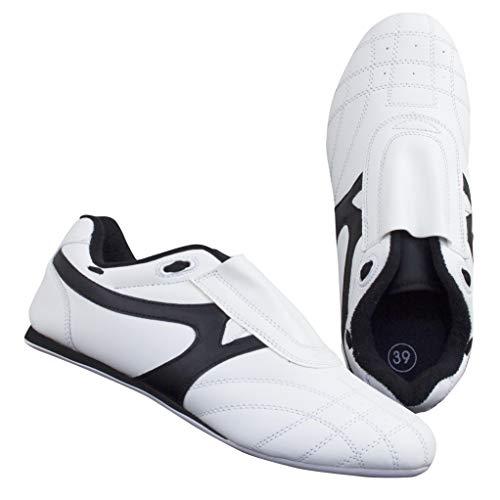 BAY® BUDO-MAX weiß Schuhe Kampfsport TKD Trainingsschuhe Kampfsportschuhe (37)