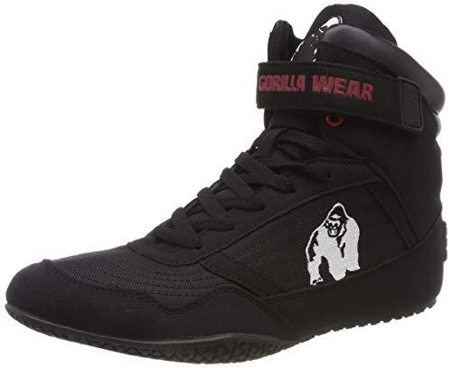 Gorilla Wear High Tops Black schwarz - Bodybuilding und Fitness Schuhe für Damen und Herren, EU 45