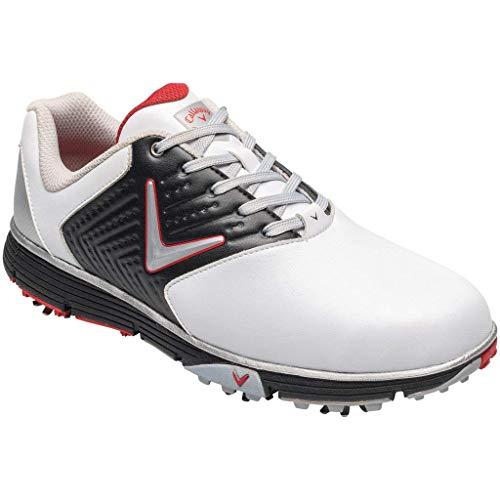 Callaway Herren Chev Mulligan S Waterproof Lightweights Golfschuhe, Weiß (White/Black/Red White/Black/Red), 42.5 EU