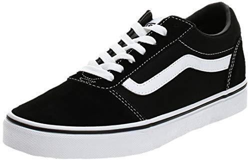 Vans Herren Ward Canvas Sneaker, Schwarz ((Suede/Canvas- Black/White), 44 EU