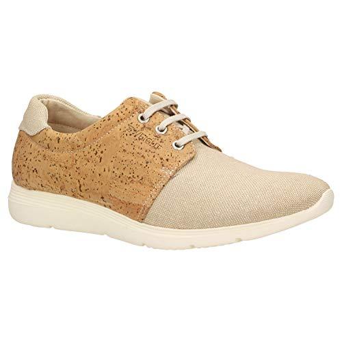 Zweigut® -Hamburg- echt #408 PeTA-Approved vegane Kork-Sneaker mit Flexibler Laufsohle Unisex Schuhe, Schuhgröße:38, Farbe:beige-Kork