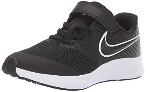 Nike Unisex-Kinder Star Runner 2 (PSV) Sneaker, Schwarz (Black/White-Black-Volt 001), 34 EU