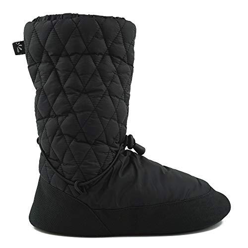 DANCEYOU Aufwärmen Stiefel für Spitzenschuhe Tanzschuhe Jazzschuhe wintertaugliche Balletschuhe Ballettschläppchen für Kinder und Erwachsene Schwarz L