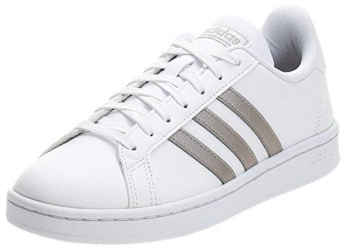 Adidas Grand Court, Damen Hallenschuhe, Mehrfarbig (Ftwbla/Metpla/Ftwbla 000), 42 EU (8 UK)