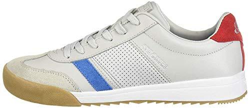 Skechers Damen Zinger-Retro Rockers Sneaker, (Gray Leather/Blue Suede/Red Suede^ Trim #Yellow Gy Bl), 38 EU