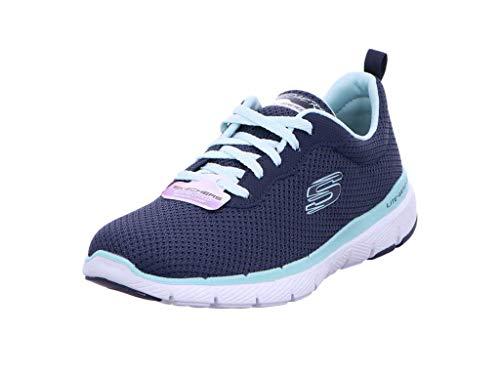 Skechers Women's Flex Appeal 3.0 Trainers, Blue (Navy Aqua Nvaq), 5 UK 38 EU