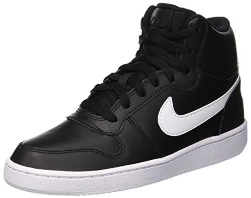 Nike Damen Ebernon Mid Basketballschuhe, Schwarz (Black/White 001), 36.5 EU
